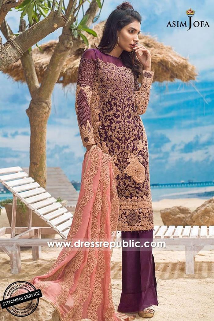 DRP7716 Asim Jofa Chiffon Eid 2018 Collection Dubai, Abu Dhabi, Sharjah