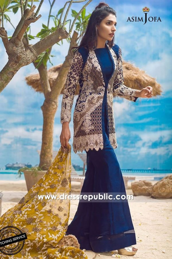 DRP7718 Asim Jofa Chiffon Eid 2018 Collection Auckland, Wellington, New Zealand