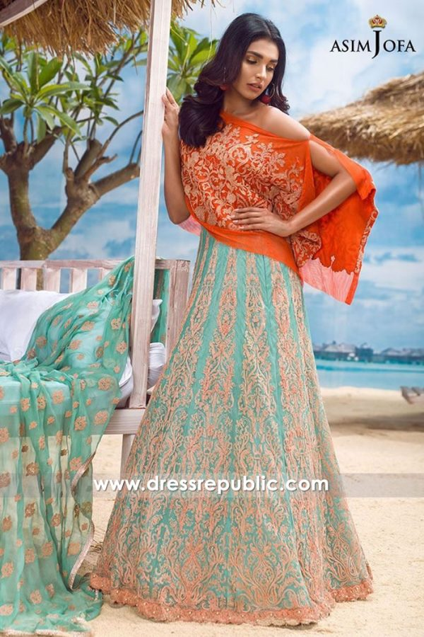 DRP7721 Asim Jofa Chiffon Eid 2018 Collection San Jose, San Diego, Los Angeles