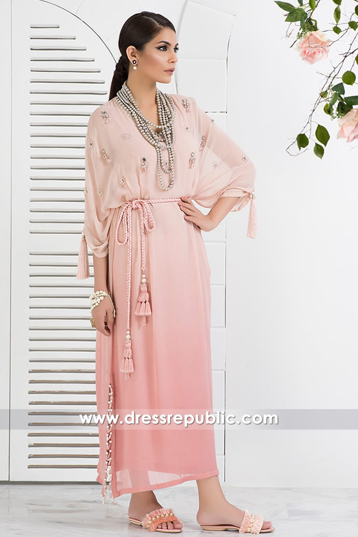 DR14836 Pink Summer Poncho for Resort Holidays & Beach Holidays Wear