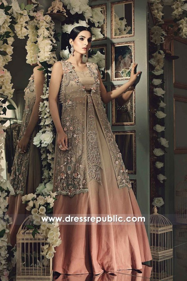 DR14860 Maria B Wedding Party Dresses 2018 Wedding Guest Dresses Online