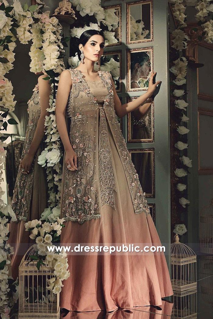 DR14860 Maria B Wedding Party Dresses 2018 Wedding Guest Dresses Online