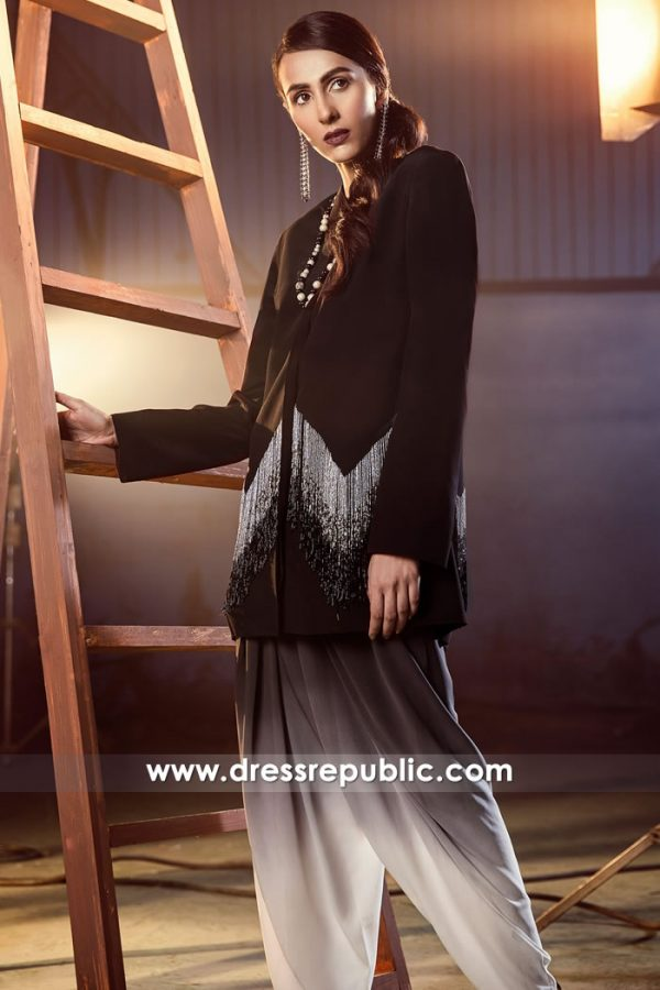 DR14879 Dark Brown Pakistani Indian Dress For Birthday Party Guests