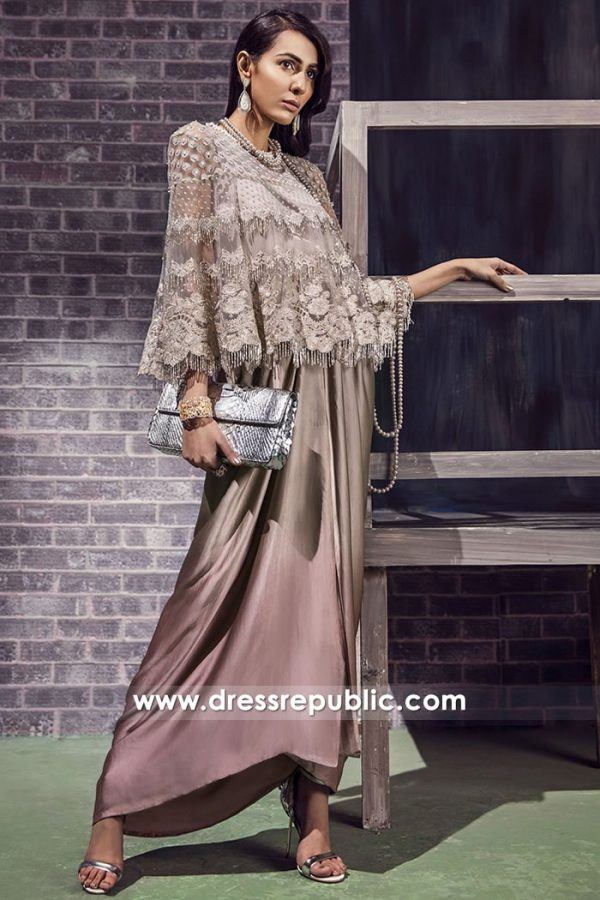 DR14883 Bolero Jacket with Sarongi for Beach Party & Resort Party Wear
