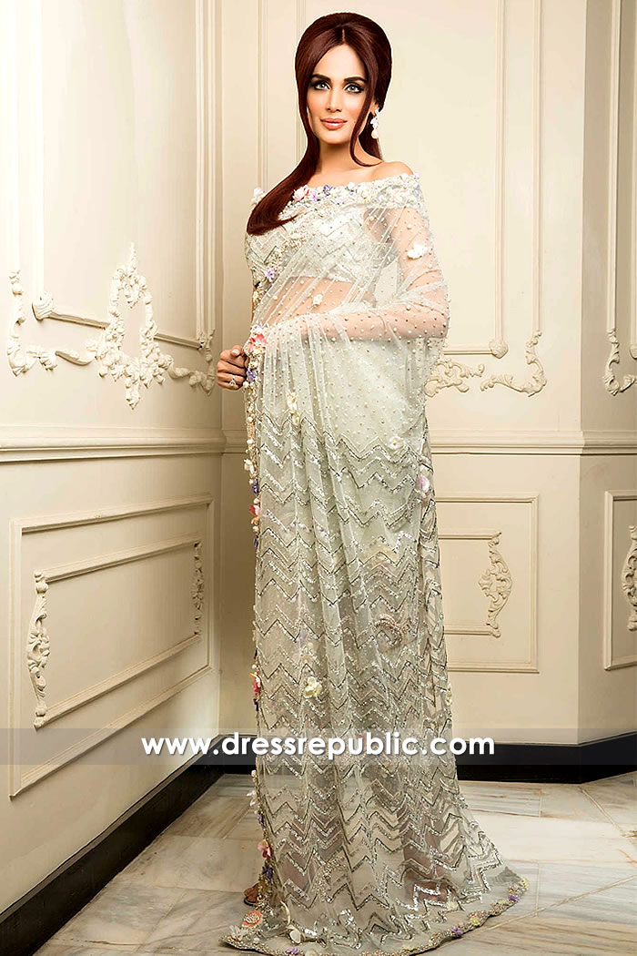 DR14885 Pakistani Designer Sarees 2018 Online USA, Canada, UK, Australia
