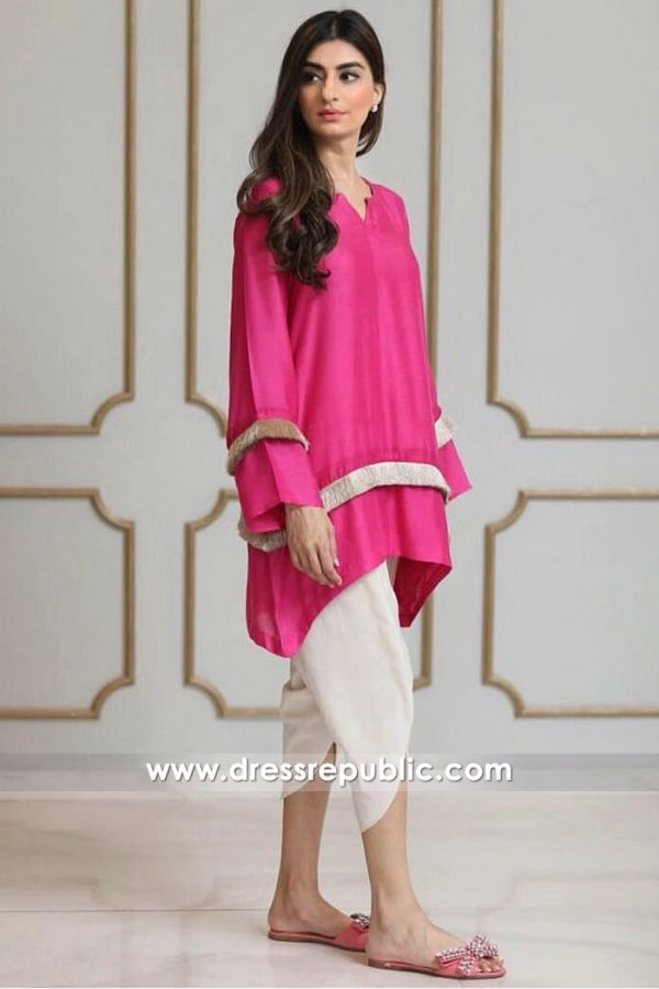 DR14921 Pakistani Street Style Dress 2018 Online USA, UK, Canada, Australia