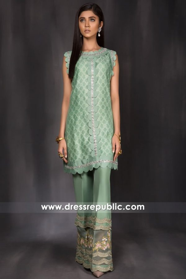 DR14961 Iris Jade Green Party Wear Dress for Summer Garden Parties USA