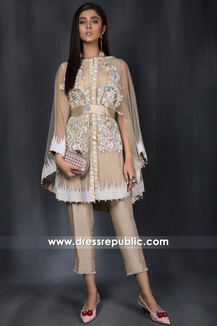 DR14969 Pakistani Cape Dresses Online 2018 Los Angeles, San Francisco, San Diego