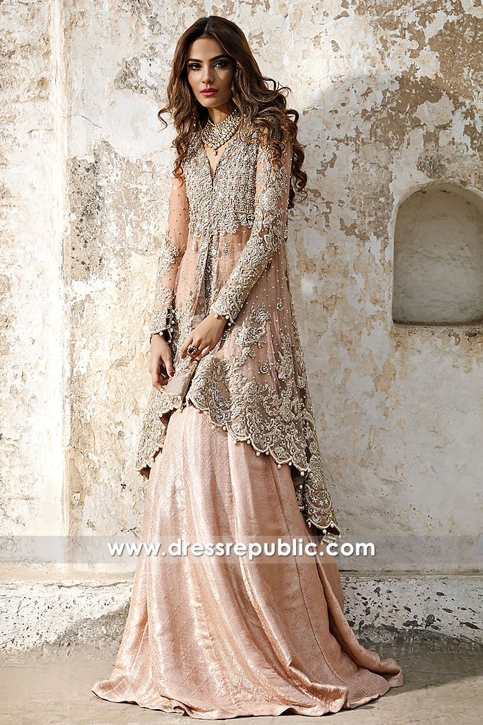 8a21278ca4d4 DR14974 Pakistani Engagement Bride Dresses USA 2018 in Peach Online Shop