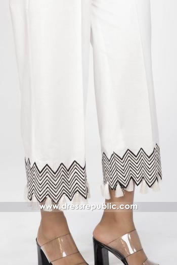 DRL1012 Cotton Embroidered Palazzo Pants Buy in London, Manchester, Birmingham