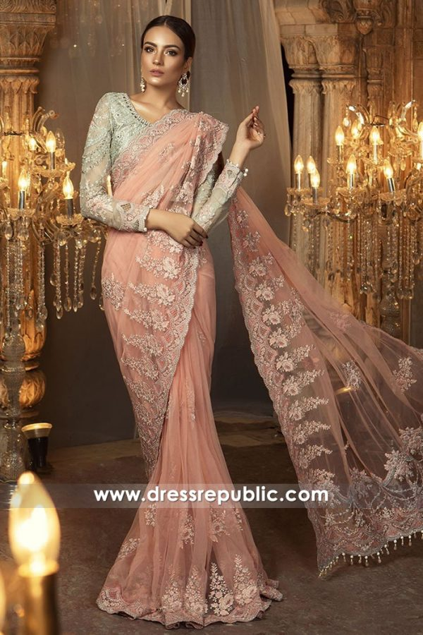 DRP7734 Maria B Chiffon Saree Collection Eid 2018 USA, UK, Canada, Australia