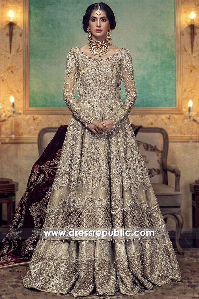 cd08eced3f8 DR15004 Maria B Bridal Lehenga 2018 in Champagne Buy in UK