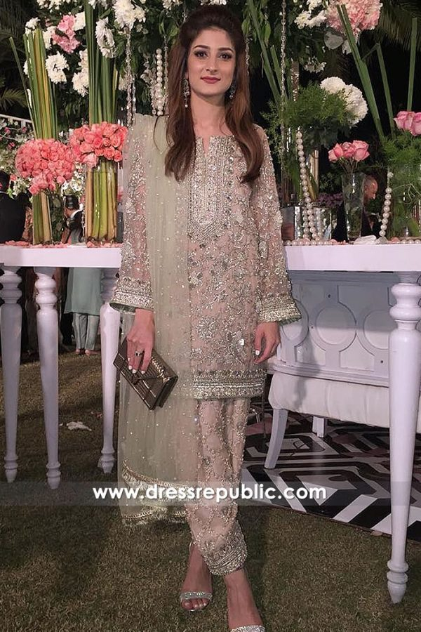 DR15011 Pakistani Wedding Guest Dress 2018 Buy in Toronto, Canada