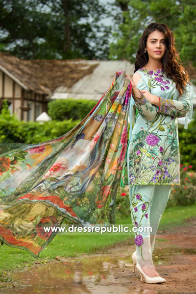 DRP7756 Asifa Nabeel Lawn Eid ul Azha Collection London, Manchester, Birmingham