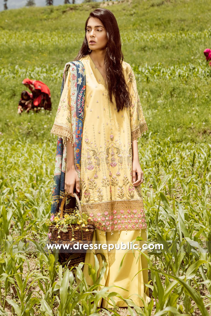 DRP7770 Zara Shahjahan Mushk Lawn UK, USA, Canada, Australia, Europe, Middle East