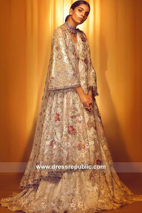 White Bridal Lehenga With High Low Hemline Shirt Buy in Manchester, UK