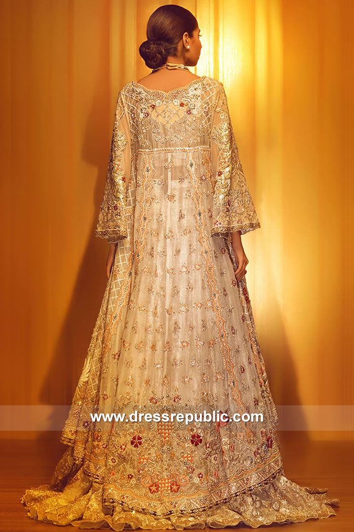 DR15050B Pakistani Bridal Dress in Off White London, Manchester, Birmingham