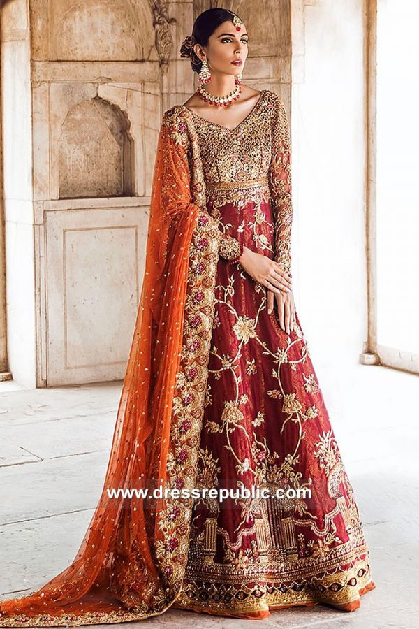 DR15064 Tena Durrani Ruby Red Bridal Toronto, Mississauga, Vancouver, Canada