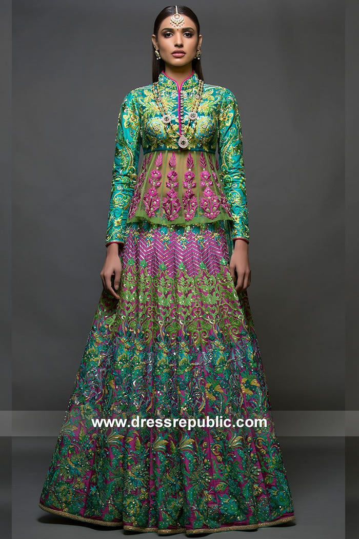 DR15084 Nomi Ansari Occasion Wear Lehenga Collection 2018 Shop Online