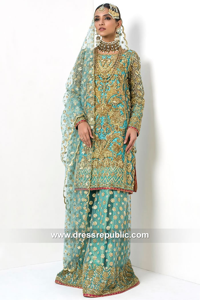 DR15092 Nomi Ansari Bridal Sharara Latest Collection Online Shopping