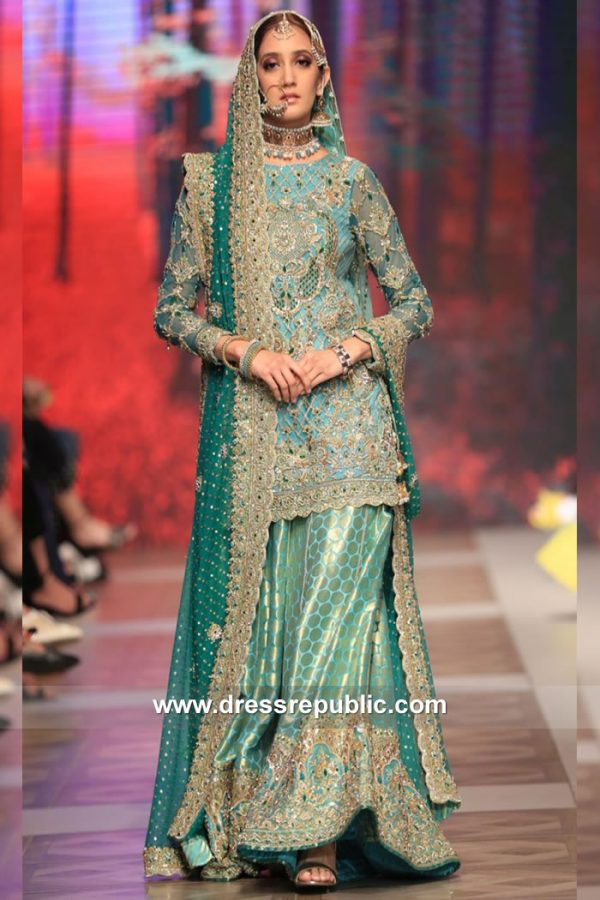 DR15117 Nomi Ansari Sharara, Gharara, Lehenga Choli 2018, 2019 Collection