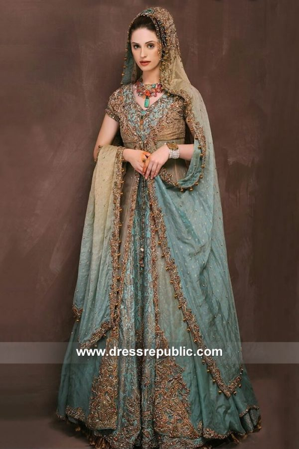 DR15125 Bengali Bridal Wear Lehenga in London, Manchester, Birmingham, UK