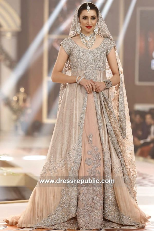 DR15132 Nilofer Shahid Walima Reception Bridal Dress UK, USA, Canada, Australia