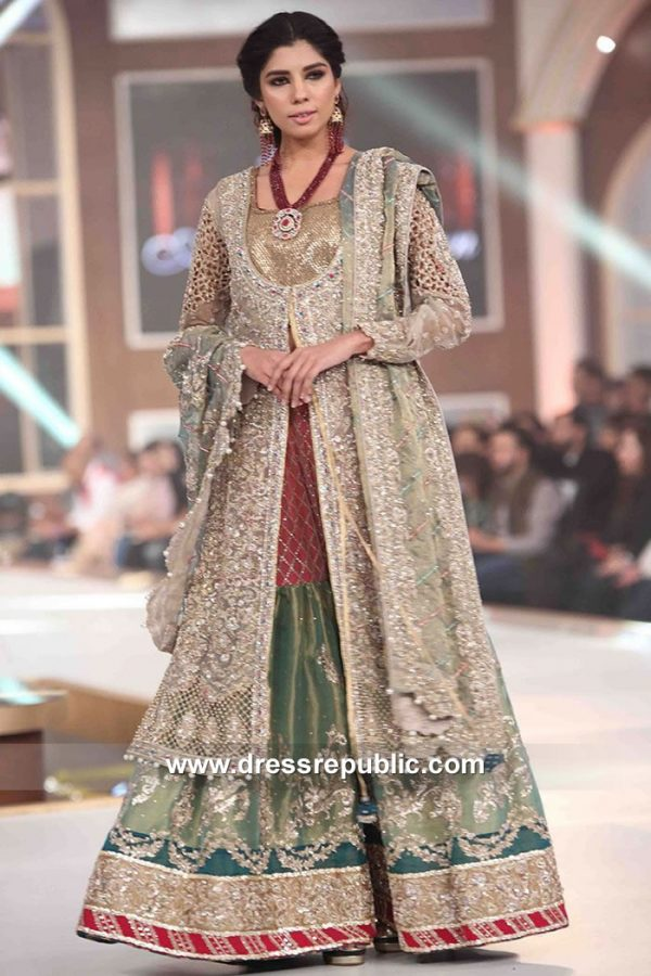 DR15137 Lehenga Choli in Beige, Green Color Online Shopping New Jersey