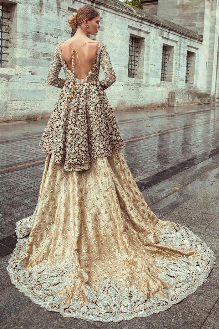 DR15142 Sania Maskatiya Wedding Dresses 2018 in Peplum Style Buy in Canada
