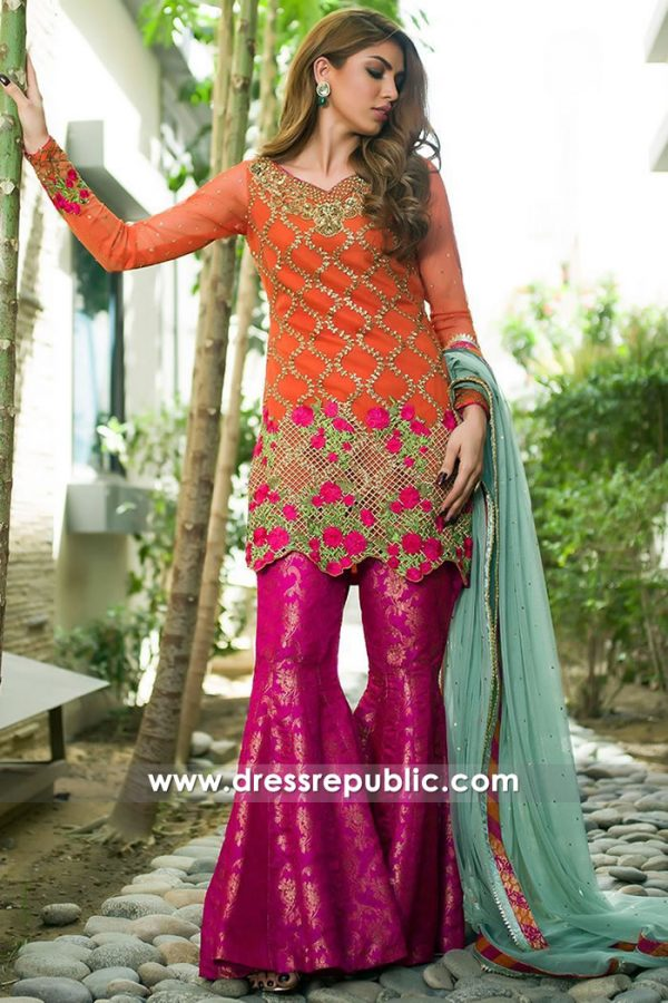 DR15168 Gharara Suit UK Buy Online in London, Manchester, Birmingham, England