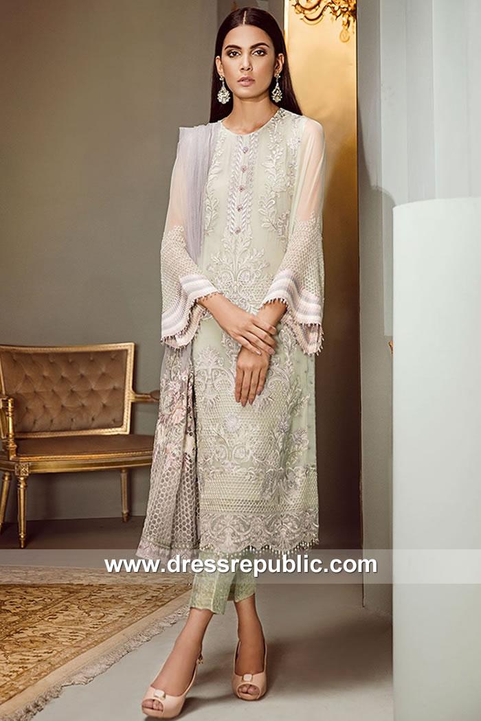 DRP7856 Pakistani Chiffon Embroidered Suits Baroque Isabella Chiffon Online Buy