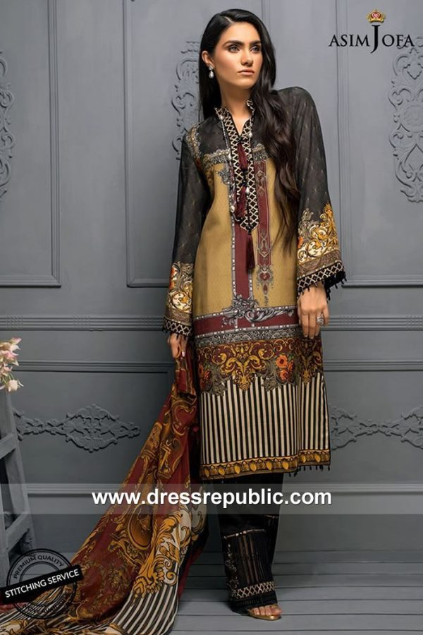 DRP7865 Asim Jofa Raw Silk Collection 2018 USA, Canada, UK, Australia