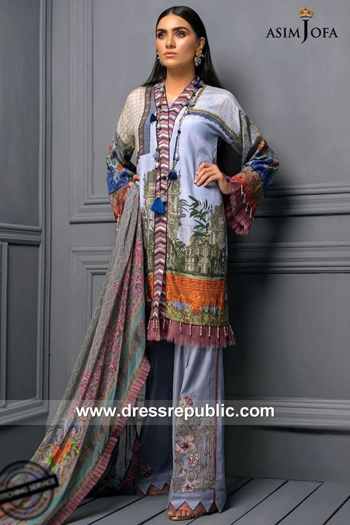 DRP7867 Asim Jofa Raw Silk Collection 2018 Saudi Arabia, UAE, Qatar, Kuwait