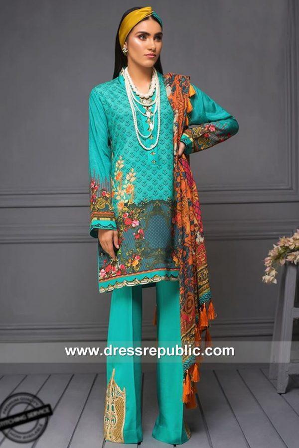 DRP7869 Asim Jofa Raw Silk Collection 2018 Pakistan, India, Sri Lanka, Bangladesh