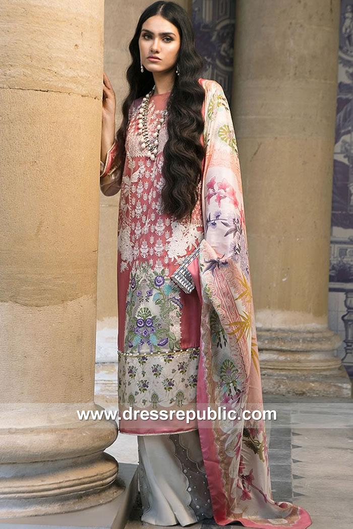 DRP7871 Sana Safinaz Silk Collection 2018 USA, Canada, UK, Australia, Pakistan