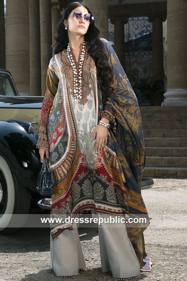 DRP7877 Sana Safinaz Silk Collection 2018 Los Angeles, New York, New Jersey