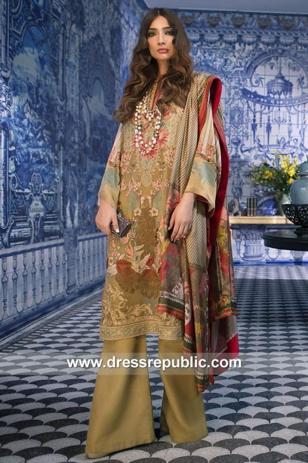 DRP7883 Sana Safinaz Silk Collection 2018 Virginia, Washington D.C, Missouri