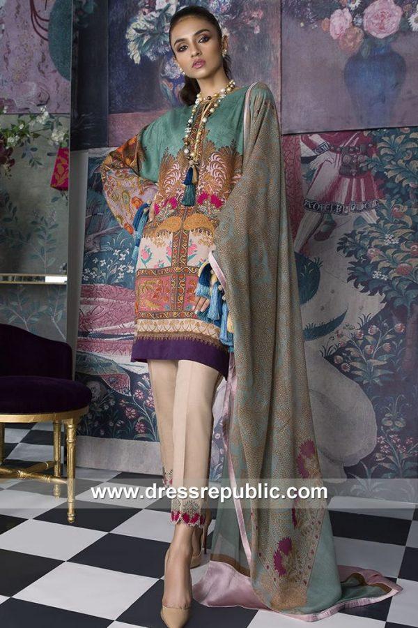 DRP7898 Sana Safinaz Winter Collection 2018 Saudi Arabia, UAE, Qatar, Kuwait
