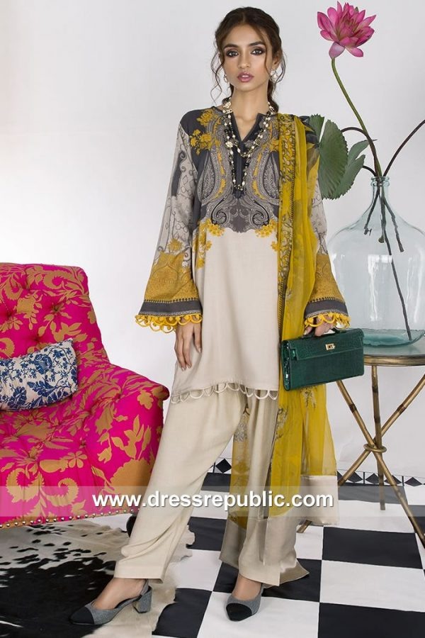 DRP7899 Sana Safinaz Winter Collection 2018 Toronto, Mississauga, Vancouver
