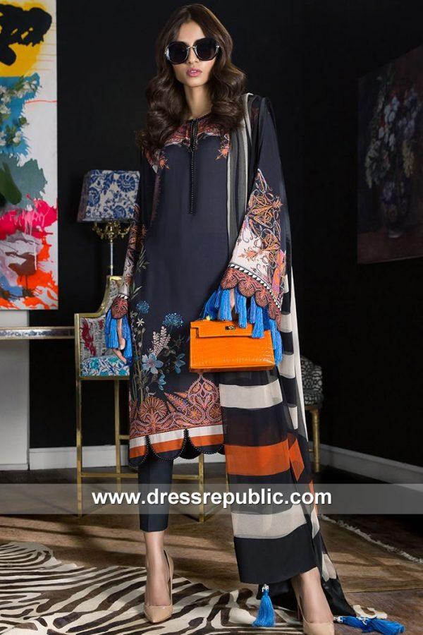 DRP7900 Sana Safinaz Winter Collection 2018 Netherlands, Holland, Switzerland