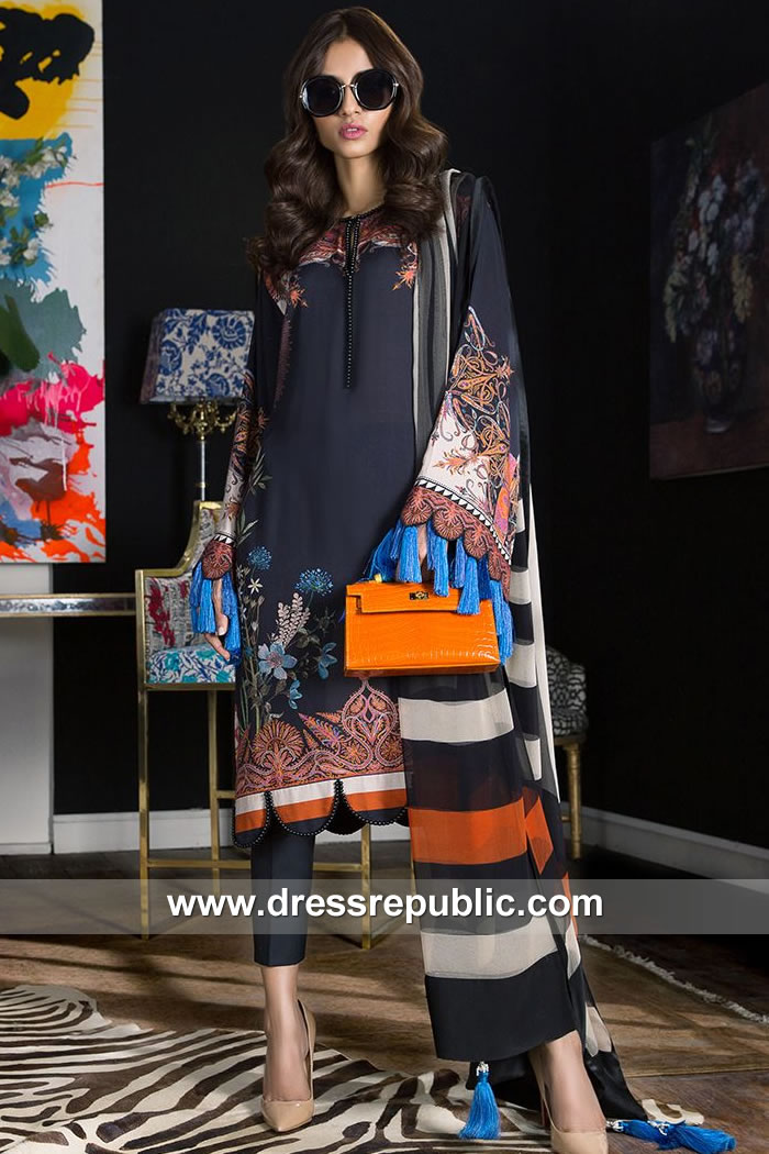 DRP7900 Sana Safinaz Winter Collection 2018 Netherlands, Holland, Switzerland