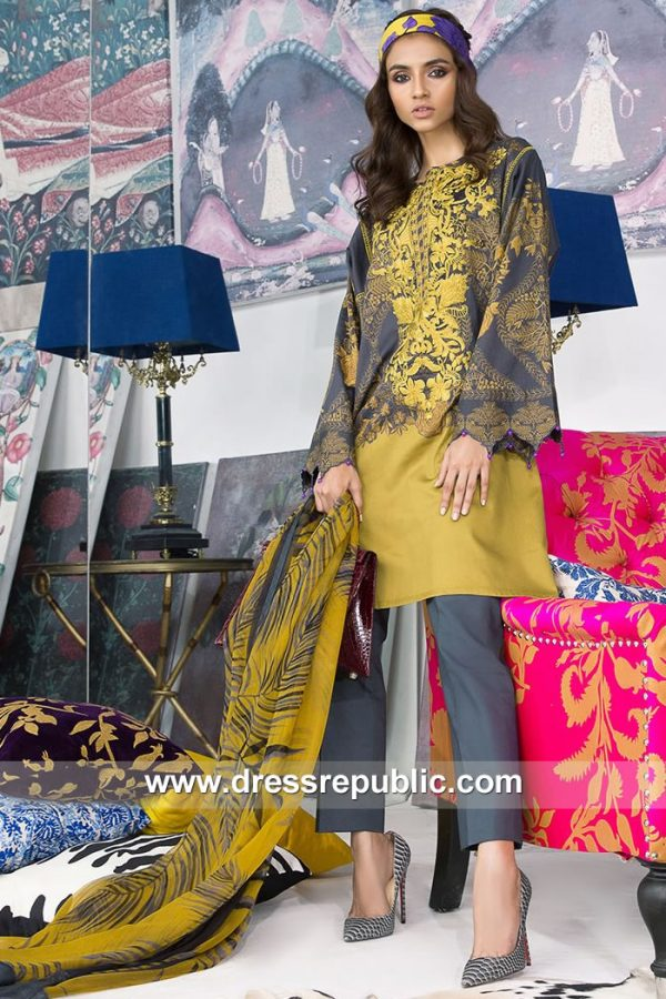 DRP7901 Sana Safinaz Winter Collection 2018 Karachi, Lahore, Islamabad, Pakistan