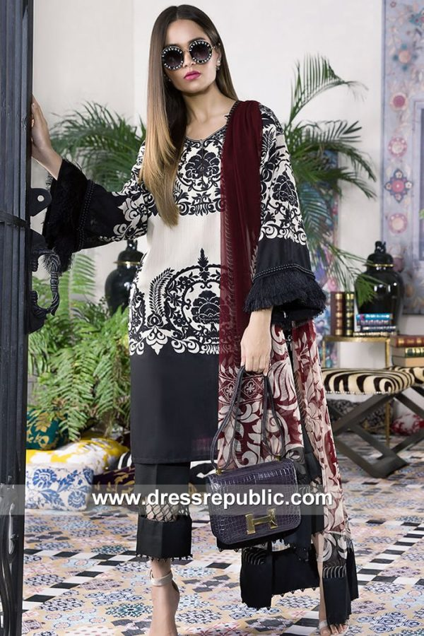 DRP7902 Sana Safinaz Winter Collection 2018 New York City, Chicago, Houston