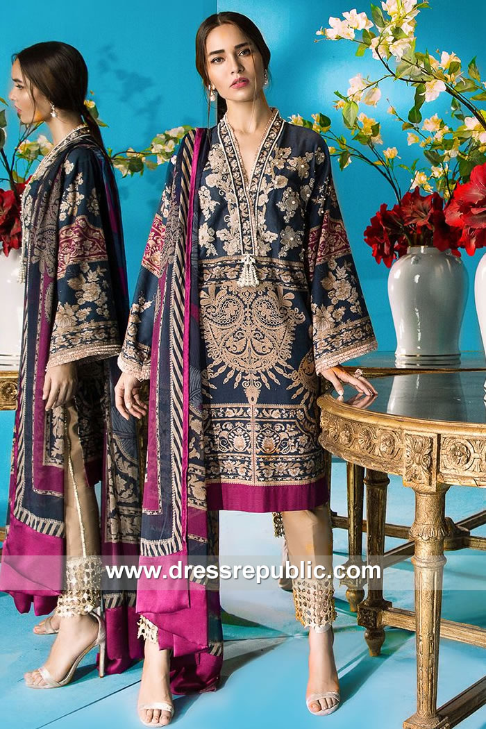 DRP7903 Sana Safinaz Winter Collection 2018 Philadelphia, Phoenix, San Antonio