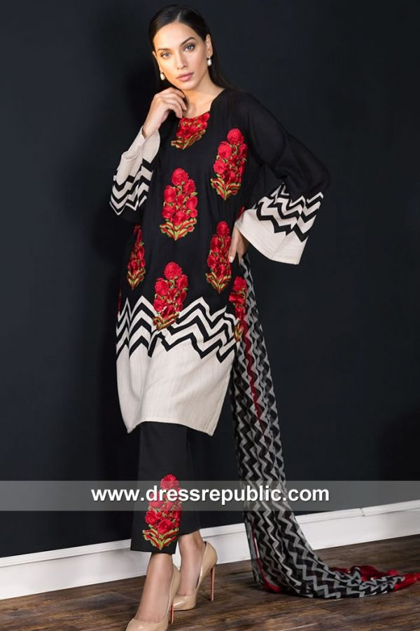 DRP7907 Sana Safinaz Winter Collection 2018 Charlotte, Seattle, El Paso, Detroit