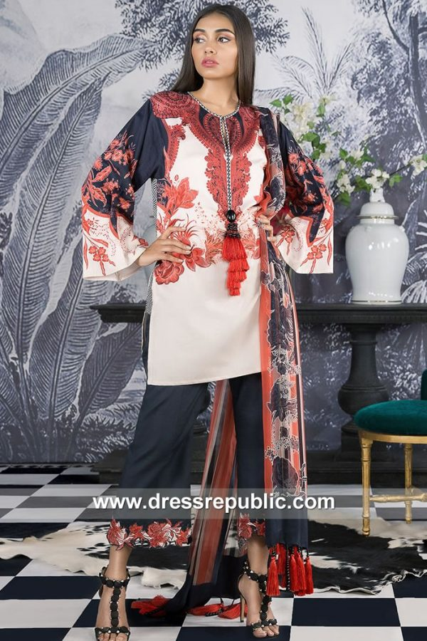 DRP7909 Sana Safinaz Winter Collection 2018 Washington, Boston, Memphis