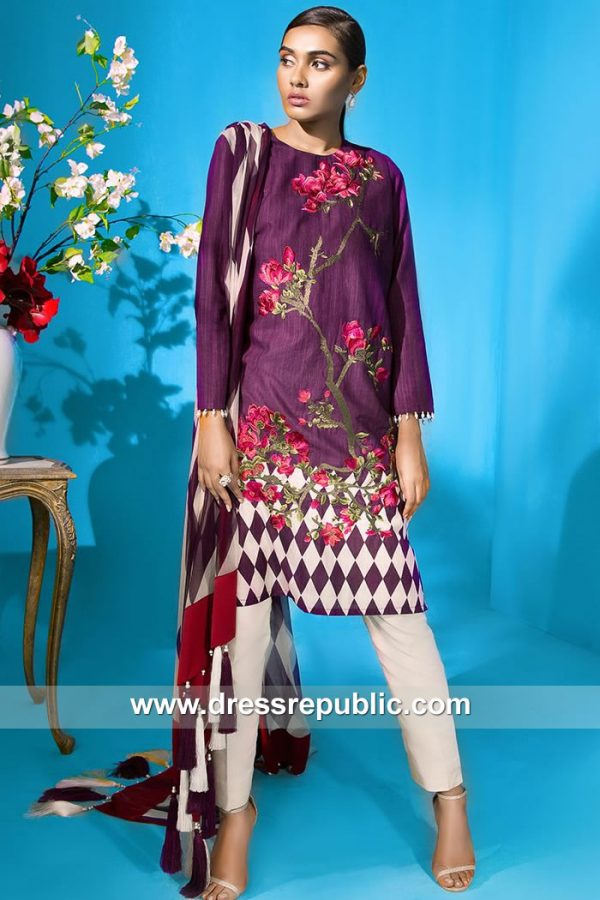 DRP7910 Sana Safinaz Winter Collection 2018 Nashville, Portland, Oklahoma City