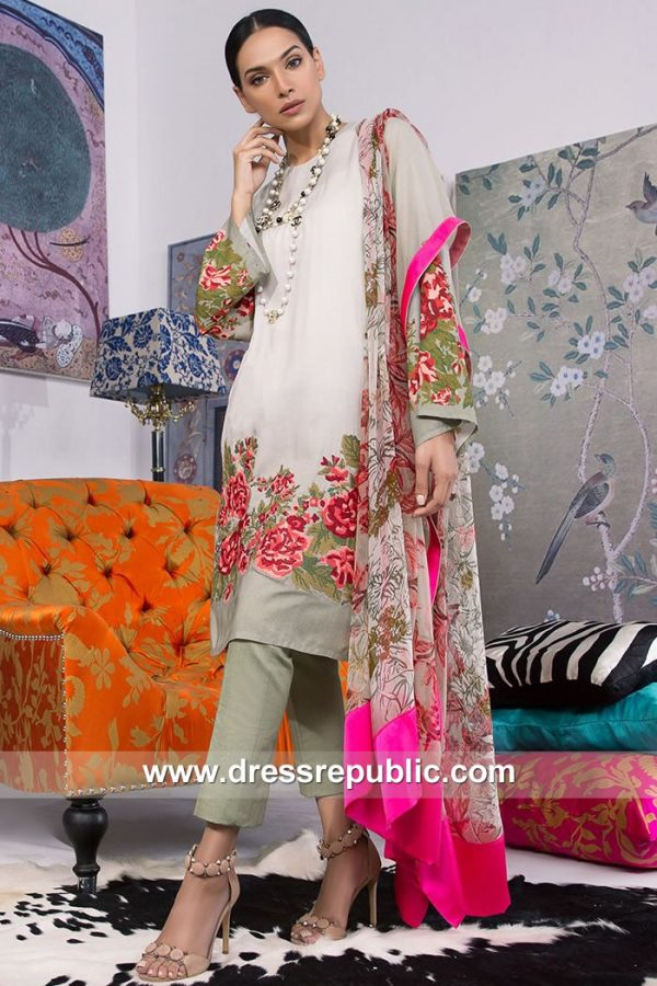 DRP7914 Sana Safinaz Winter Collection 2018 Winnipeg, Kitchener, Montreal