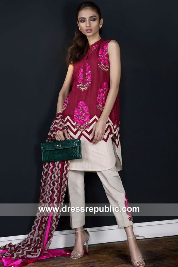 DRP7915 Sana Safinaz Winter Collection 2018 Australia, New Zealand, Fiji, Japan