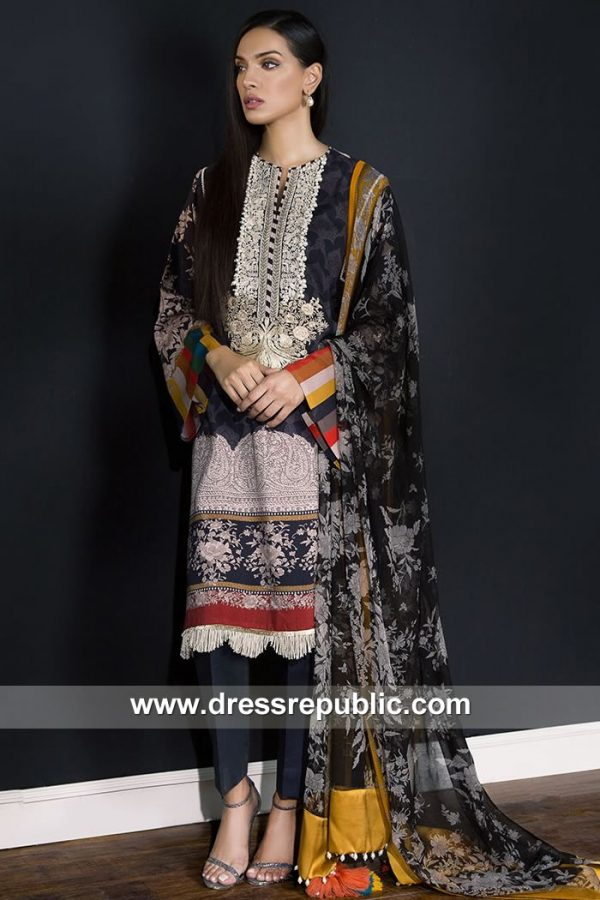 DRP7916 Sana Safinaz Winter Collection 2018 Singapore, Malaysia, Thailand